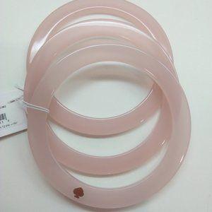 Kate Spade New Pink Stackable Bangle Bracelets